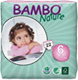Bambo Nature Premium Baby Diapers, X-Large, Size 6, 22 Count
