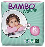 Bambo Nature Baby Diapers Classic, Size 6 (35-66 lbs), 22 Count