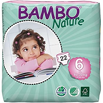 Bambo Nature Baby Diapers Classic, Size 6, 22 Count