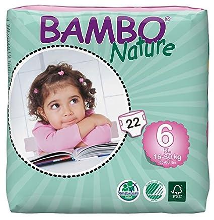 Bambo Nature XL Size 6 (33-66lb / 16-30kg) Premium Eco-Nappies - 22 pieces per pack Abena 310136-zzz-1