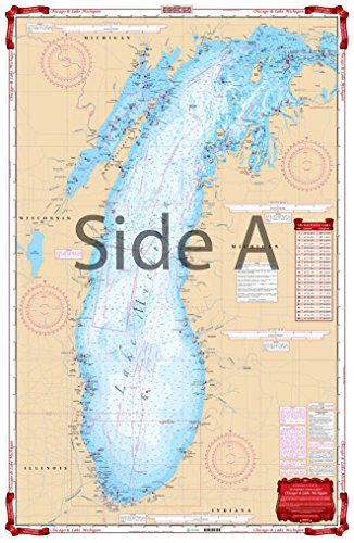 Waterproof Charts, Standard Navigation, 70 Chicago and Lake Michigan (Nautical Chart Lake Michigan)