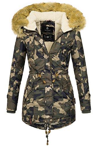 Donna Camouflage Army Maniche Lunghe Basic Navahoo Giacca wxnTqB44