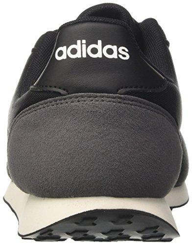 adidas V Racer 2.0, Men's Trainers Black (Core Black/Solar Red/Footwear White)