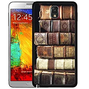 linJUN FENGAncient Old Brown Literature Books Stacked Up Hard Snap on Cell Phone Case Cover Samsung Galaxy Note 3 N9000