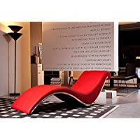 Limari Home LIM-13053 Idda Chaise, Red