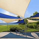 Patio Paradise 12'x12'x17' Beige Sun Shade Sail