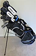 """Mens Complete Golf Set Custom Made Clubs for Tall Men 6'0""""- 6'6"""" Tall Adjustable Driver, 3 Wood, 3, 4, 5 Hybrids, Irons, Sand Wedge Putter, Stand Bag Regular Flex Pro Quality"""