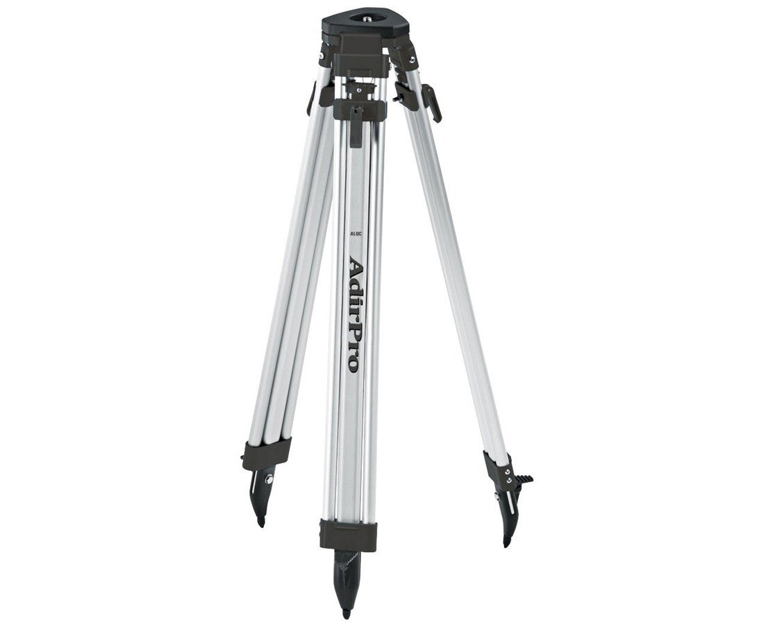 AdirPro Aluminum 5/8-Inch 11-Threaded Flat Head Tripod with Quick Clamp (Black)