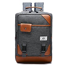 R206 15.6INCH Laptop Bag Business Case Classic Daypack Bookbag Travel Backpack School Bag (GRAY)