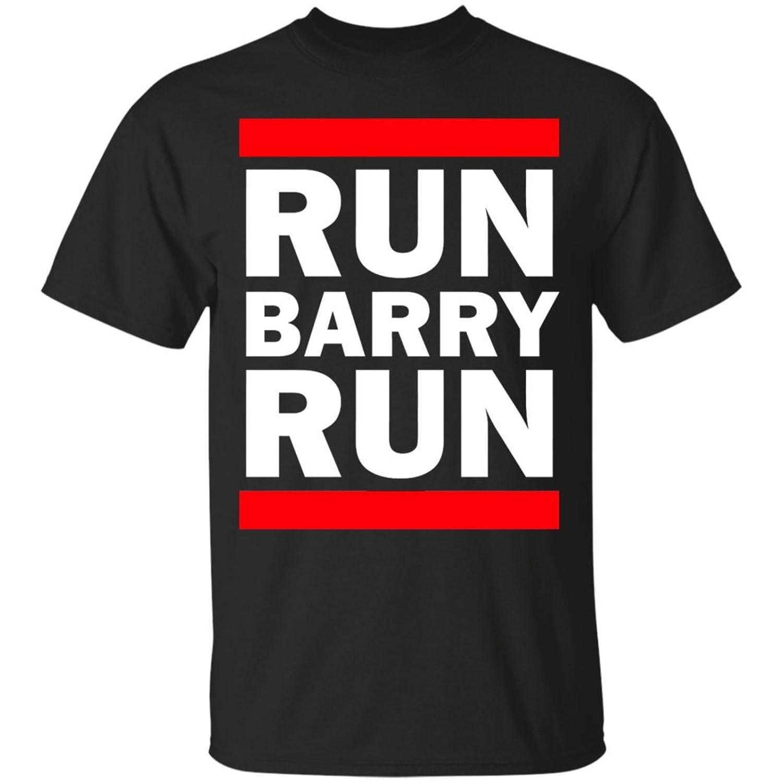 The Flash Shirt-Run Barry Run-Funny Flash Superhero Black-Unisex