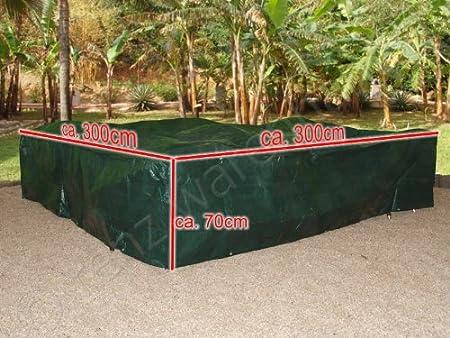 Amazon De Xxl Abdeckplane Schutzhulle Fur Gartenmobel 3x3m