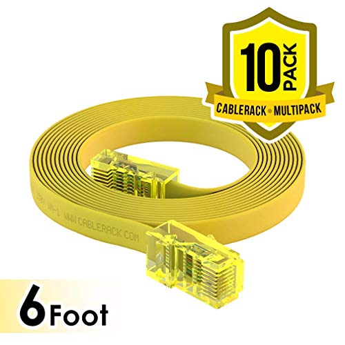 CableRack 6ft Rollover Console Cable RJ45 to RJ45 Male Cisco 72-3383-01 Yellow (10-Pack)