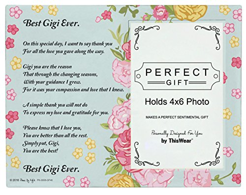 Flip Flop Photo Frames (Gigi Picture Frame Best Gigi Ever Gigi Poem Glass Picture Frame 4x6 Photo Frame)