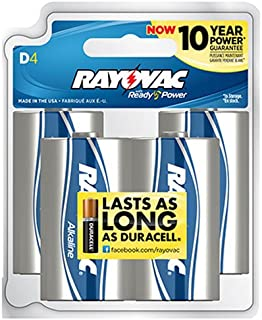 product image for Rayovac 813-4F Alkaline Reclosable D Batteries