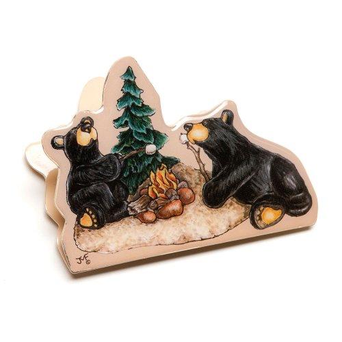[Bearfoots Bear Campfire Memories Magnet Clip] (Big Bear Lodge)