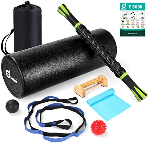 Odoland 8-in-1 18 Large Size Foam Roller Kit