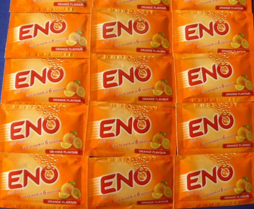 15 X Eno Fruit Salt Antacid Instant Acidity Relief Orange Flavour 5g X 15 Sachet