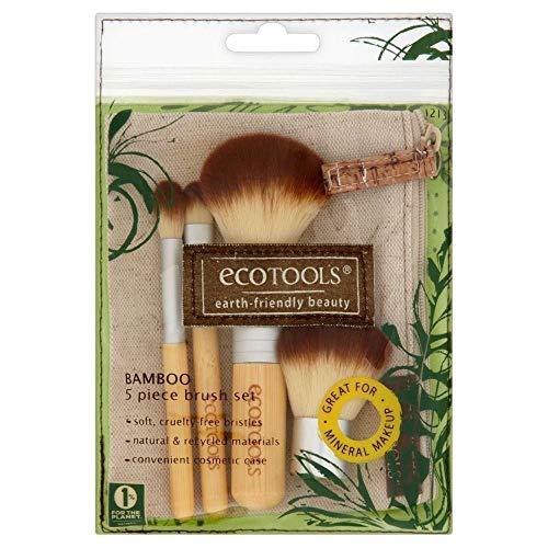 Authentic Organic Natural EcoTools BAMBOO Starter Makeup Brush Set Eco Tools Make up (5 piece makeup brush set)