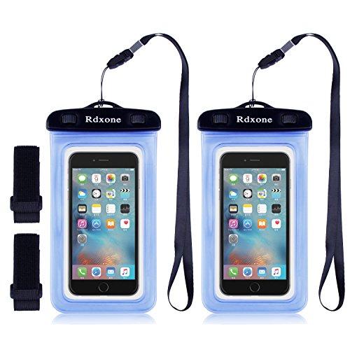 Waterproof Cell Phone Case, Rdxone Transparent Dirtproof Sandproof Waterproof Case Pouch Dry Bag Perfect for iPhone 7, 7 Plus, 6S Plus; Samsung Galaxy s8 s7 s6; HTC LG Sony Nokia Motorola, etc