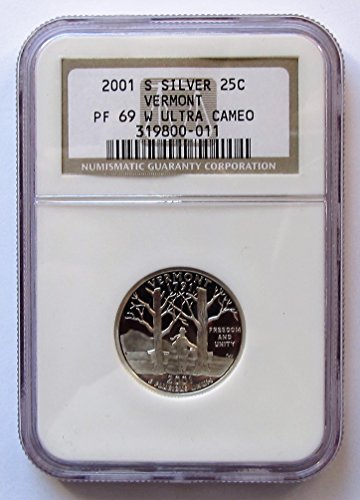 2001 S Vermont Silver State Quarter PF69 NGC