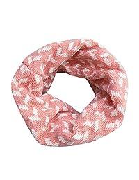 Molyveva Autumn Winter Baby Scarf Knitted Print Collar O Ring Infinity Sarf