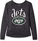NFL New York Jets Women's Long Sleeve Tee, Small, Charcoal Heather