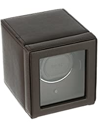 ' Cub Single Watch Winder with Cover, Brown' Metal and Leather Automatic (Model: 461106)