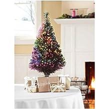 "32"" Green Fiber Optic Color Changing Artificial Christmas Tree LED Lights"