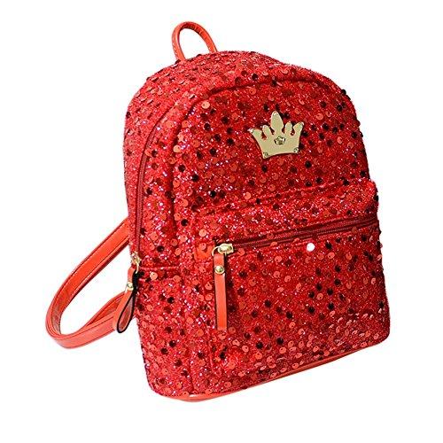 Red Bolso Única Talla Para Mujer Rojo Drasawee Mochila nfq1HWgg