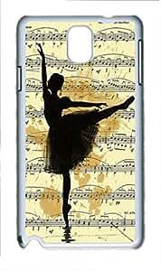 Samsung Galaxy Note 4 Case, iCustomonline Print Art Ink Drawing Ballet Art Painting Ballerina Shell Back Case Cover Skin for Samsung Galaxy Note 4 - White by mcsharks
