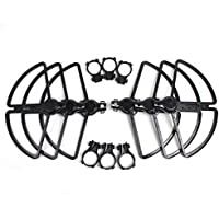 Drone Fans 6pcs H480 Propeller Guards Bumper Quick Release Propeller Protectors Crashproof Shielding Ring for YUNEEC Typhoon (Black,Red)