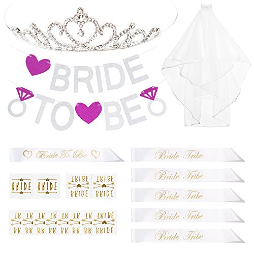 chic bachelorette party decoration kit bride to be bridal shower supplies bride to be sash