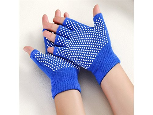 BNASA Breathable Cotton Yoga Gym Motor Cycling Glove Non-slip Fingerless Wrist Support Gym Training Sport Gloves for Women Men for Working