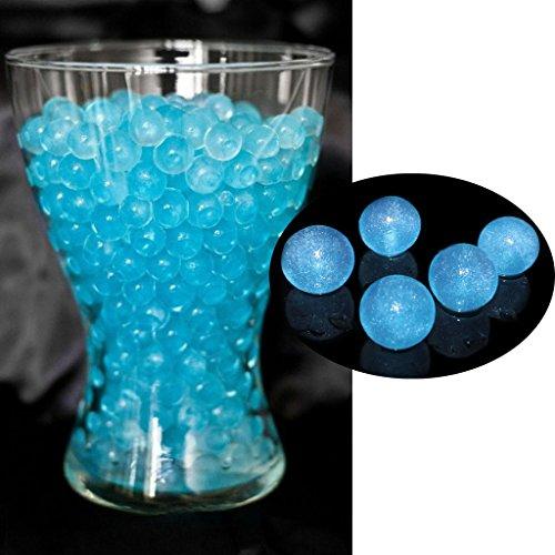 light blue beads - 9