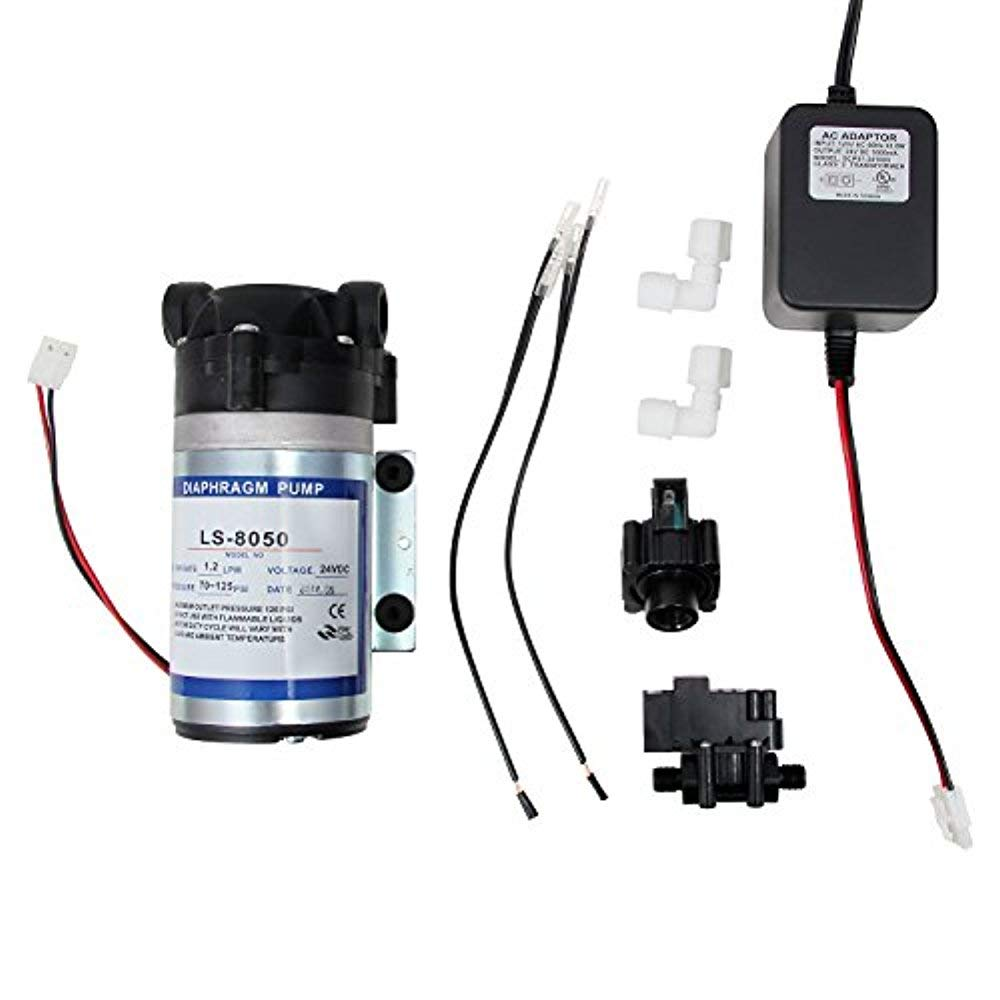 Vepotek Diaphragm Pump (Water Booster Pump) Ls-8050 for Any Ro Reverse  Osmosis System w/ High TSO (Tank shut off) & Low Pressure (water sensing)  Switches: Amazon.com: Industrial & ScientificAmazon.com