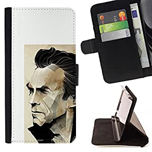 Momo Phone Case / Flip Funda de Cuero Case Cover - Arnold héroe de la acción de la película del personaje - Apple Iphone 6 PLUS 5.5