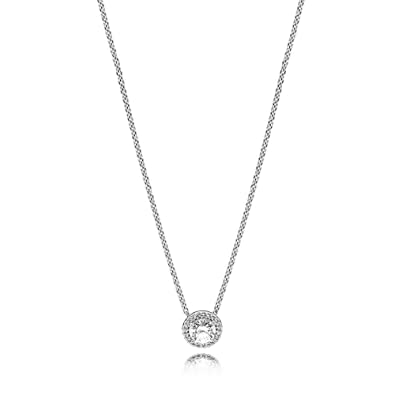 4b581a2ba Amazon.com: PANDORA Classic Elegance Necklace, Sterling Silver, Clear Cubic  Zirconia, 17.8 IN: Jewelry