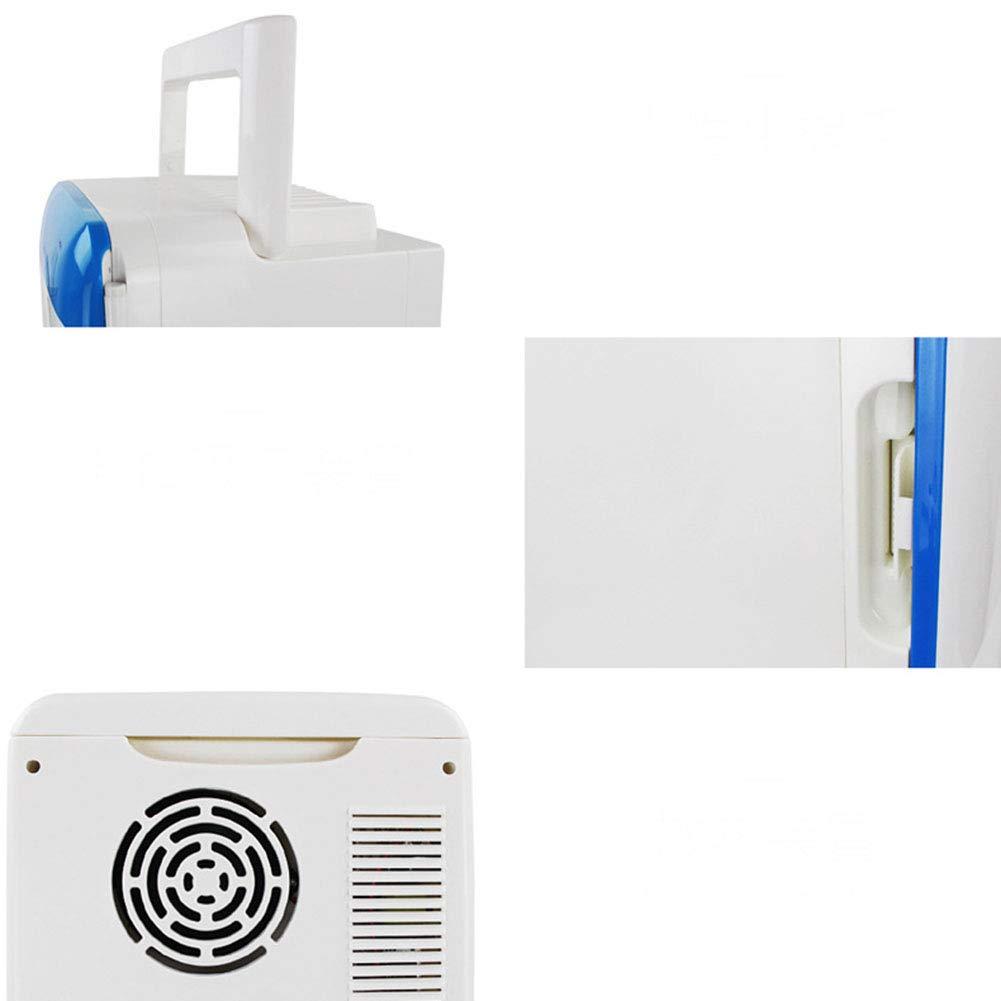 Amazon.es: Refrigerador De Coche Mini Refrigerador Miniatura 10L Coche A Casa Caja De Calentamiento Y Enfriamiento De Semiconductores, Blue