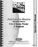 FM-O-3-6Z New Fairbanks Morse Engine Operator's Manual Z Hit & Miss 3 to 6 HP