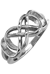 Double Infinity Symbol Ring, Best Friends Forever Ring, Sisters Ring, 8mm Wide in Sterling Silver