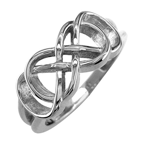Infinity Ring Couple in 18k White Gold - size 10 by Sziro Infinity Rings
