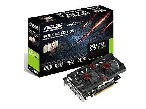 Photo - ASUS STRIX GeForce GTX 750TI Overclocked 2 GB DDR5 128-bit DisplayPort HDMI 1.4a DVI-I Graphics Card