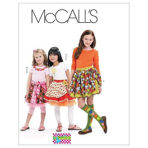 McCall's Patterns M6066 Children's/Girls' Skirts, Leggings and Appliques, Size CHJ (7-8-10-12-14)