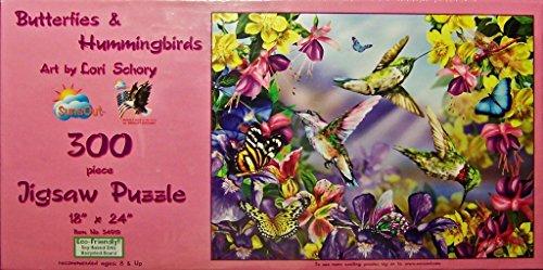 Butterflies Hummingbirds 300 Piece Jigsaw Sunsout product image