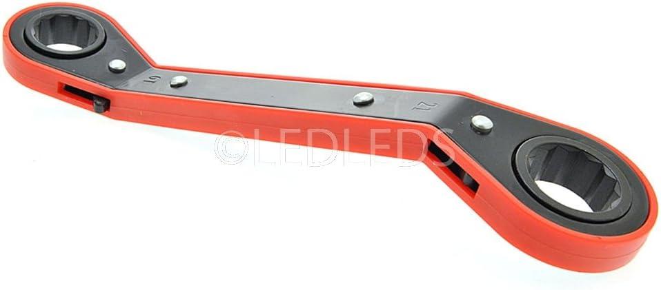 12/AND 13/14/17/19/21/mm Combination Spanner Set 5/Piece Chrome Vanadium 8 6 11 10