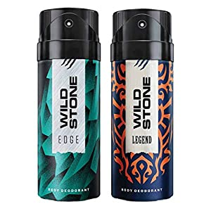 Wild Stone Edge and Legend Deodorant For Men 150 ML Each (Pack Of 2)