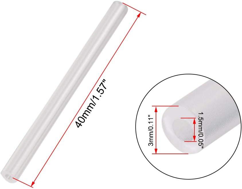 sourcing map Trasparente Plastica Antenna Tubo e Cappuccio Rosso per RC Controllo Remoto Veicoli Ricevente Antenna 10pz