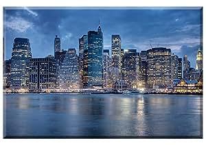 Brooklyn Bridge Park, New York, impresión digital (Giclee) a Artistas Lienzo., Bastidor gespannt, imagen, foto de, Ciudad Paisaje New York de Aurelien Terrible, de artículo bastidor imagen, tamaño 90cm x 60cm, Wohnen E imágenes, decoración, listo de colgar directamente