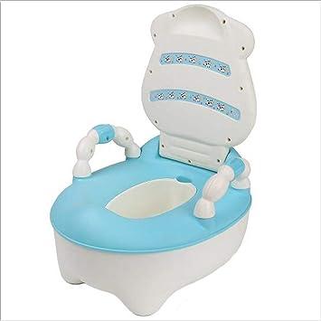 Glenmore Lernt/öpfchen Babytopf Kindertoilette mit Hoher R/ückenlehne und Haltgriff Rosa