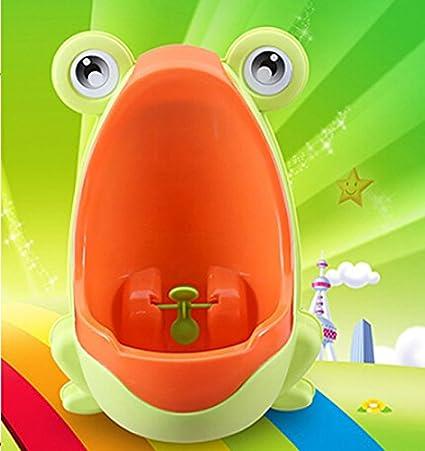 Fablcrew 1Pcs Pot Urinoir Enfant en Forme de Grenouille pour B/éb/é Gar/çon Apprentissage pour Uriner Brown